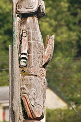 Detail - Funerary Totem Pole, Alert Bay, by A.Davey, on Flickr