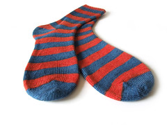 striped socks (Eskimimi) Tags: socks happy sock hand knit bamboo yarn knitted wendy aries ble knittingred