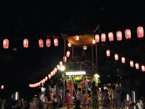 地域のお祭り  Japanese Summer Bon Festival