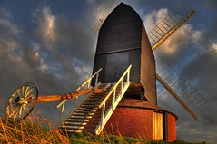 Brill Windmill (Mark A Bailey) Tags: wood trestle mill industry windmill stone cow ancient wind timber antique teeth grain sails machine machinery millstone repair restore frame restoration buck flour cogs gears brill hopper hdr shaft milling roundhouse pitstone postmill mainpost millwright quarterbar