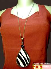 0909A  - (Lado B) - VENDIDO (Closon Acessrios) Tags: animal zebra colar corrente ona couro duplaface closonacessrios