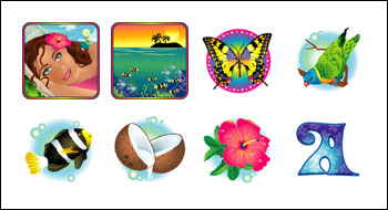 free Paradise Dreams slot game symbols