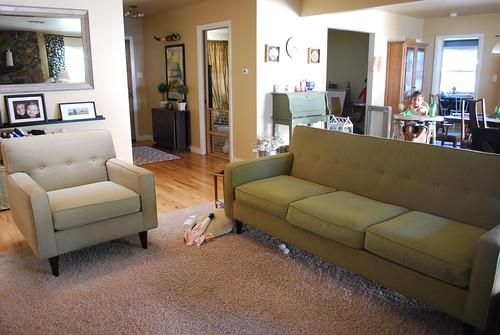 Cleaned Sofa & Chair