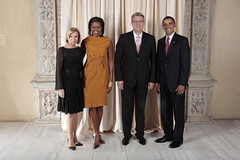 U.S. President Barack Obama and First Lady Michelle Obama With World Leaders at the Metropolitan Museum in New York (http://www.state.gov) Tags: usa ny newyork president whitehouse michelle latvia unitednations obama firstlady generalassembly barackobama unga michelleobama zatlers