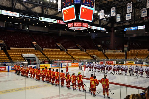 Women's Olympic hockey team of China VS. Waterloo Ranger on Sep. 27 2009