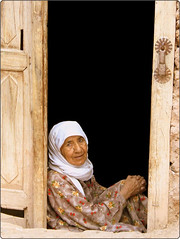 in Door (Reza-ir) Tags: door portrait people woman village iran documentary social oldwoman  khorasan        taybad   taibad