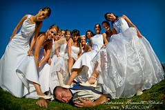 Girl Power (- Virgonc -) Tags: girls boy woman white men boys girl club trash fun happy bride nikon women hungary dress mud rugby dirty fisheye brides mah ttd d300 karc trashthedress virgonc wwwvirgonccom