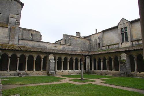 Saint Emilion Church Courtyard