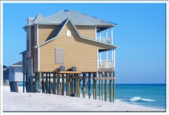 House on the beach in Florida (mysweetiepiepie) Tags: ocean blue sky house building beach water sand beige florida outdoor shoreline kartina