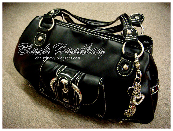 Shopping Items: Black Handbag