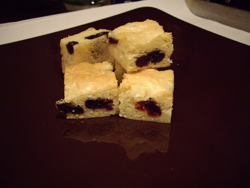 Chewy Almond and Cherry Bars