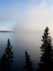 Lake Lewis (donsutherland1) Tags: morning nature water fog unescoworldheritagesite yellowstonenationalpark naturesfinest beautifulphoto lakelewis flickraward forstudents forschools