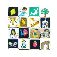 Vintage memory card game (Wooden donkey) Tags: illustrations 1950s 1960svintage