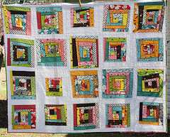 Flea Market Fancy Quilt (oldredbarnco) Tags: log cabin quilt market fancy flea wonky along