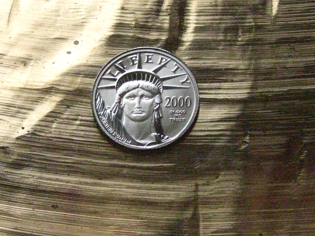 platinum on bronze