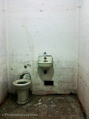Empty Cell (Rosemarie Hughes) Tags: sanfrancisco bathroom sink grunge cell toilet dirty prison alcatraz iphone