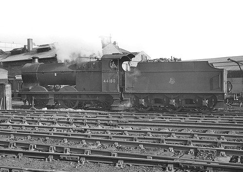 Class 4F no.44180. Bromsgrove. 2 March 1963