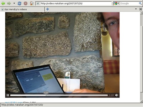 Webconverger 5.7 playing back HTML5 video