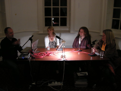 From left: Martin Franklin, Julie Hoyle, me, Janet Curley Cannon
