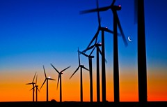 Weatherford Wind Power (Marvin Bredel) Tags: morning moon oklahoma windmill silhouette sunrise energy alternativeenergy marvin windturbine windfarm windpower weatherford marvin908 oklahomathroughmyeyes bredel marvinbredel