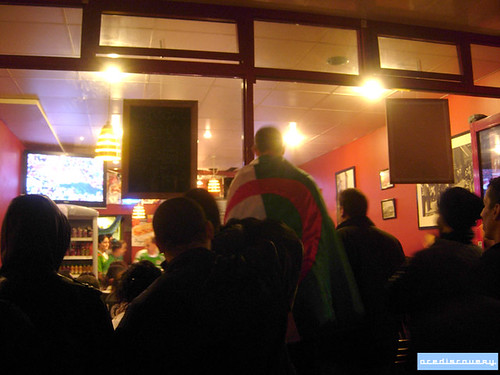 Algerian football fans, London