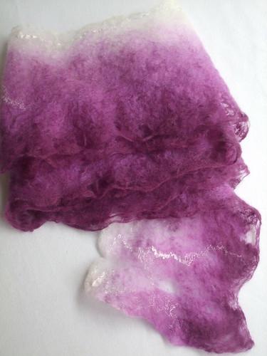 Cobweb felt scarf