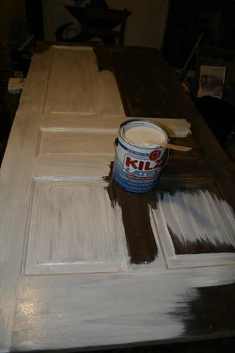 making a headboard from a door