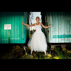 (marcin.sowa) Tags: lighting light portrait ballet woman girl station train umbrella project iso200 dance nikon ballerina dress poland polska flashlight nikkor filters emotions krakw cracow speedlight strobe pw cto d300 resco pocketwizard krakoff strobist caraco 18105mm plusii sb900 danceproject ex580ii fullcto caracoemotions wwwswiattancapl