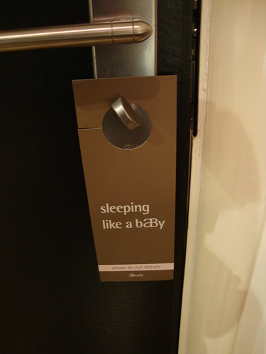 "the ""do not disturb"" sign"