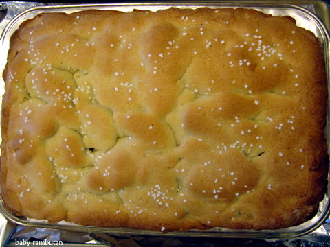 Russian grandmothers' apple pie cake