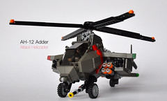 AH-12 Adder Attack Helicopter [11 O'clock low] (The Ranger of Awesomeness) Tags: lego attack helicopter viper missiles etcetc rotors attackhelicopter ah12