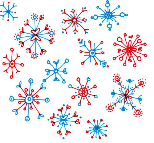 snowflake doodles