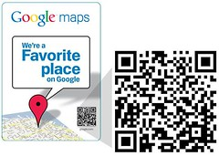 Google Favorite Places QR Barcodes