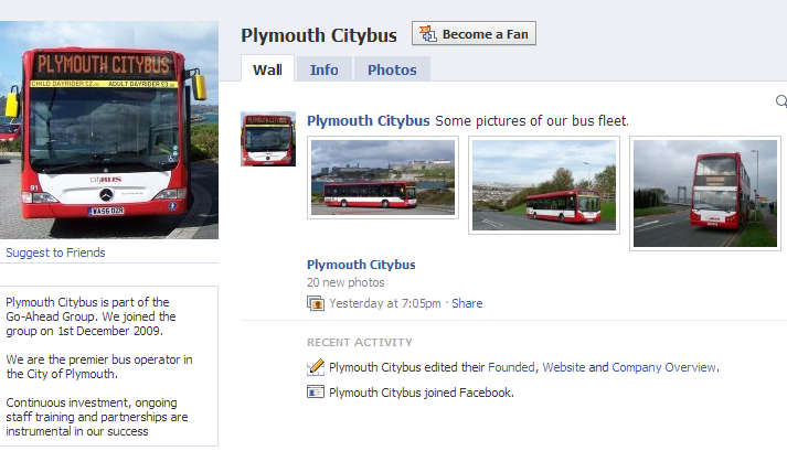 Plymouth Citybus on Facebook