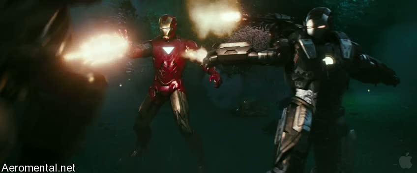 Iron Man 2 Trailer 2 War Machine scene