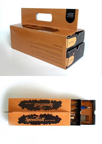 Packaging design SPEEDBALL Acrilic Kit