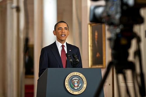 Obama, durante su discurso televisado (PETE SOUZA / White House)