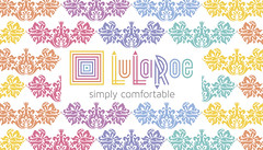 Amy Leonard LuLaRoe Business Card BACK SIDE (maddieandmarry) Tags: rainbow colors damask gradient fleurdelis ornament lularoe clothing businesscard promotional thankyou note