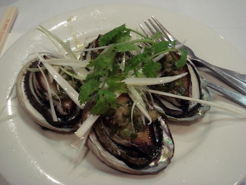 Steamed abalone@Manor