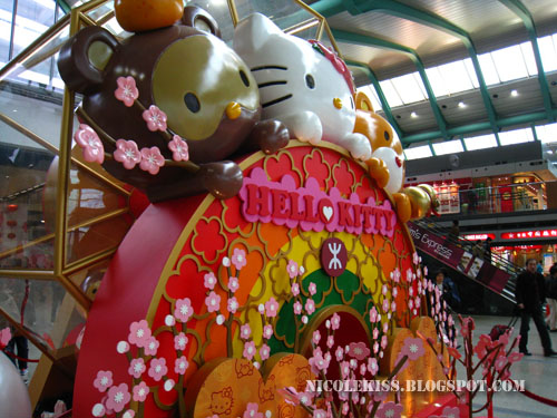 hello kitty in Hong Kong train station