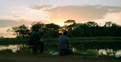 Sussego (Shigow) Tags: brazil lake fish film sunshine brasil fishing nikon mine victor pôrdosol peixe sp lagoa filme fm3a dnp pescaria asa100 sussego shigueru ituverava shigow centúria