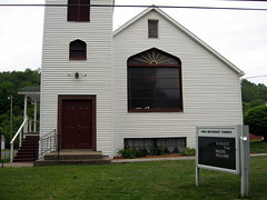 Church in Wellsboro, PA (Padraic.) Tags: bicycle america methodism bikers