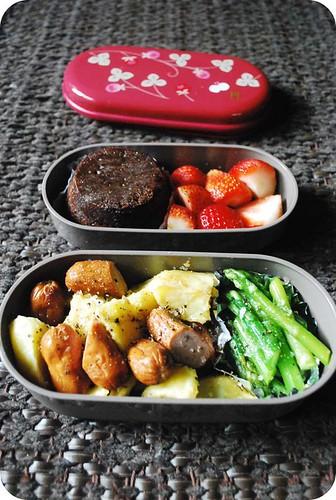 Roast Potatoes & Sausages Bento