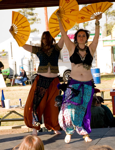 Two Belly Dancers performing at Norman, OK Medieval Fair