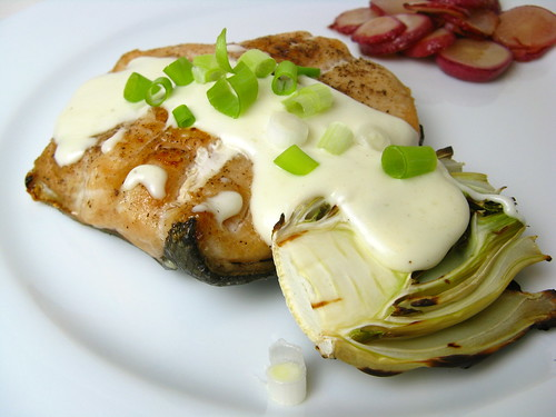 Grilled Trout & Fennel with Lemon Cream Sauce