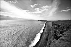 BW Summer '09 - The Seaside (.:: Gunz ::.) Tags: travel sea 20d beach coast iceland coastline 1022 eyjafjallajkull dyrhlaey reynisfjall gunnaringi reykjalin