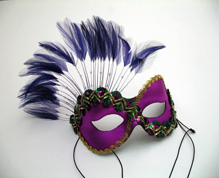 Colorful Feather Masks