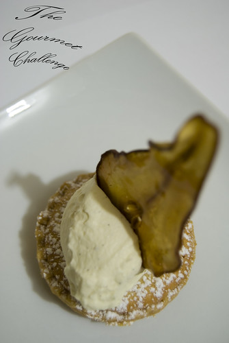 Almond frangipan tart with toffee pear 3