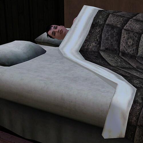 His bed looks so empty