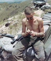Keeping My Rifle Clean (eks4003) Tags: me rifle cleaning vietnam marines 1970 patrol grunt m16 nam rifleman recon lsa noncom jarheads leanandmean